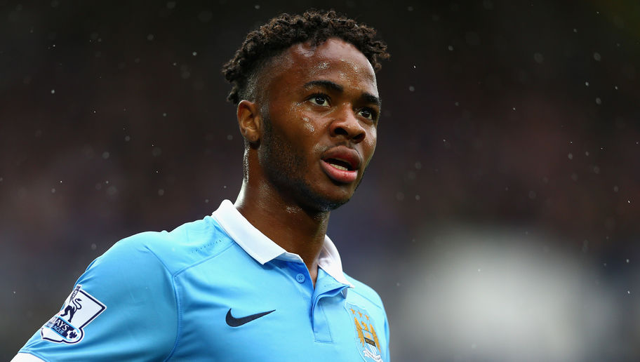 LIVERPOOL, ENGLAND - AUGUST 23:  Raheem Sterling of Manchester City in action during the Barclays Premier League match between Everton and Manchester City on August 23, 2015 in Liverpool, United Kingdom.  (Photo by Clive Brunskill/Getty Images)