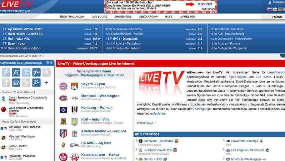 Live Stream Tv Kostenlos Fussball