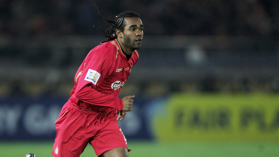 YOKOHAMA, JAPAN - DECEMBER 15:  Florent Sinama Pongolle of Liverpool in action during the FIFA Club World Championship Toyota Cup 2005 match between Deportivo Saprissa and Liverpool at The Yokohama International Stadium on December 15, 2005 in Yokohama, Japan.    (Photo by Shaun Botterill/Getty Images)