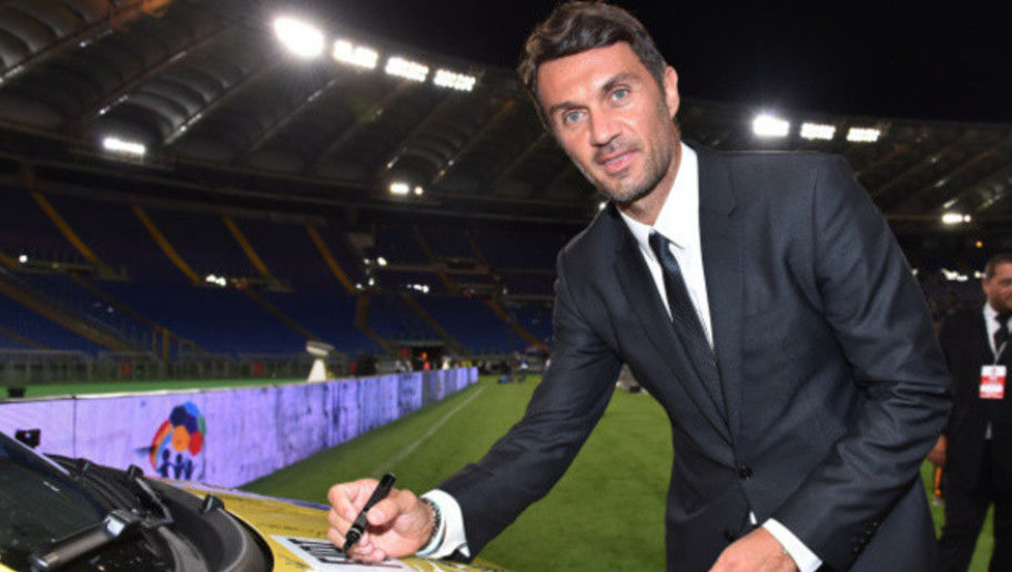 ROME, ITALY - SEPTEMBER 01:  Paolo Maldini attends the Interreligious Match For Peace at Olimpico Stadium on September 1, 2014 in Rome, Italy.  (Photo by Tullio M. Puglia/Getty Images)