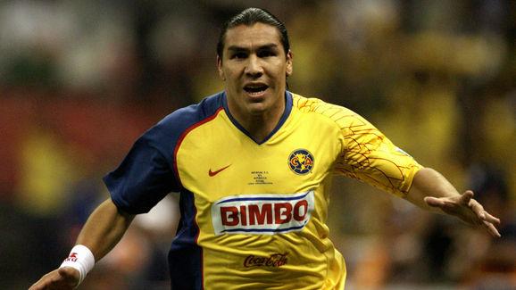 America's Salvador Cabanas celebrate his
