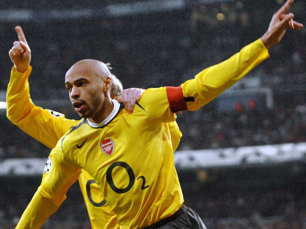 Arsenal's Frenchman Thierry Henry (front