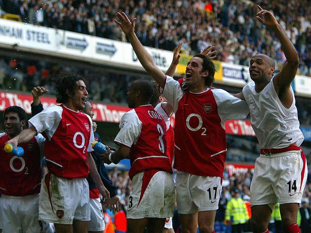 Arsenal's L to R Jose Antonio Reyes, Rob