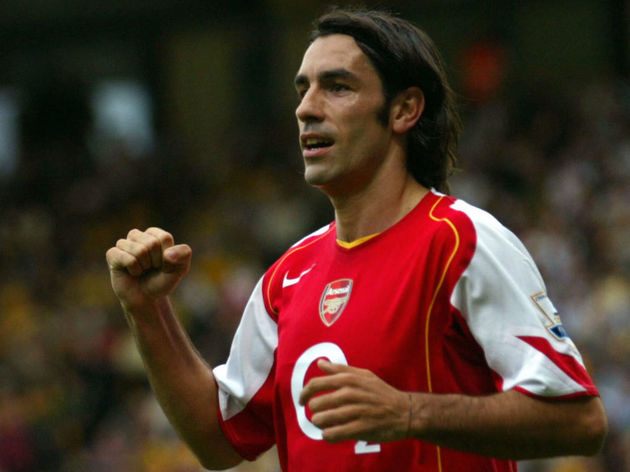 Arsenal's Robert Pires celebrates his go