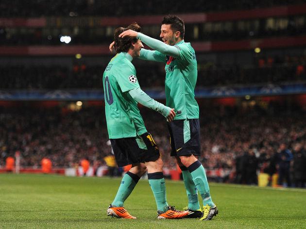 David Villa,Lionel Messi