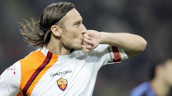 AS Roma Francesco Totti jubilates after