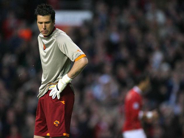 AS Roma's Brazilian goalkeeper Marangon...