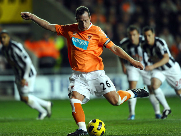 Blackpool's Scottish midfielder Charlie