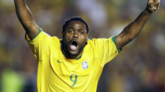 Brazilian player Vagner Love celebrates