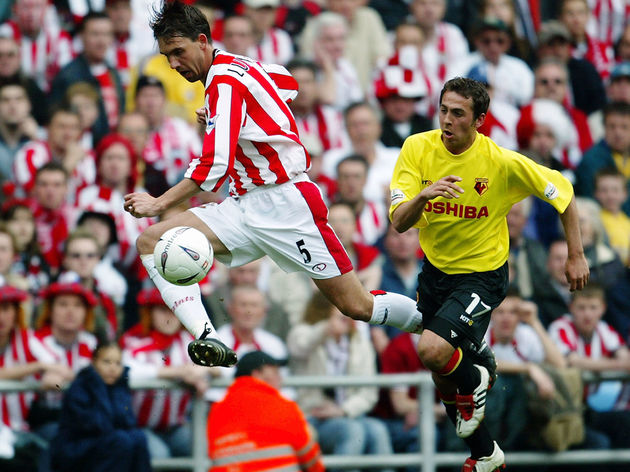 Claus Lundekvam of Southampton and Michael Chopra of Watford