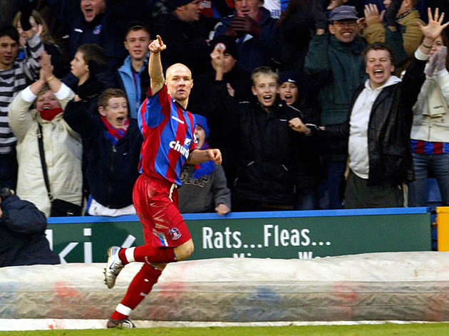 Crystal Palace's Andrew Johnson celebrat