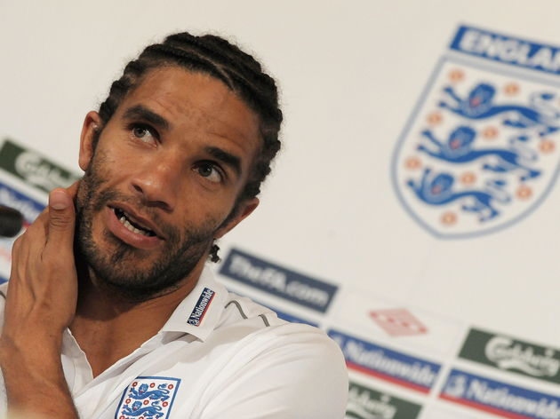 England football player David James is p