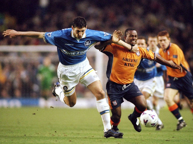 Everton v Ipswich Marco Materazzi David Johnson