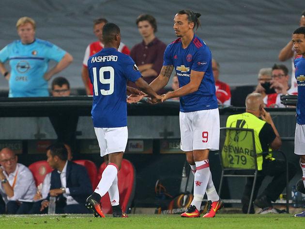 Zlatan Ibrahimovic,Marcus Rashford