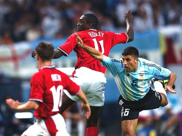 Foot : Argentina - England / World Cup 2002