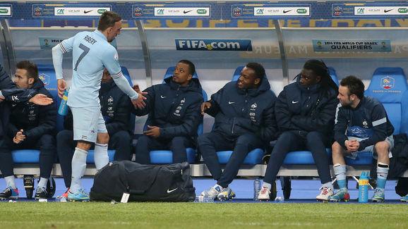 Franck Ribery,Patrice Evra,Mathieu Valbuena,Bafetimbi Gomis,Steve Mandanda