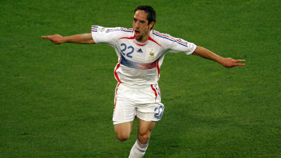 French forward Franck Ribery celebrates