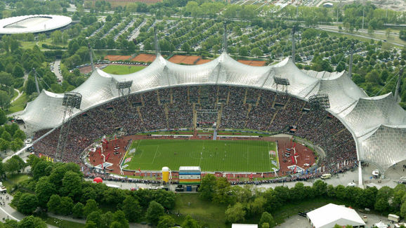 General view of Munich's Olympic stadium