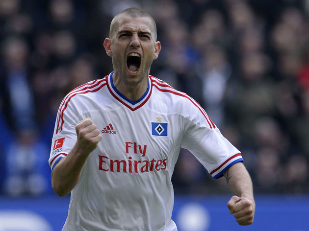 Hamburg's Croatian striker Mladen Petric