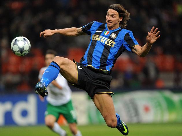 Inter Milan's Swedish forward Zlatan Ibr