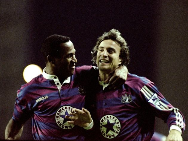 Les Ferdinand and David Ginola of Newcastle United