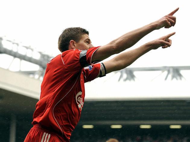 Liverpool's English midfielder Steven Ge