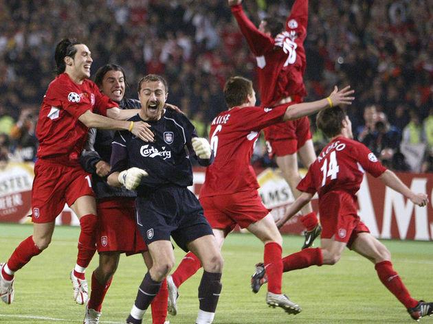 Liverpool's Polish goalkeeper Jerzy Dude