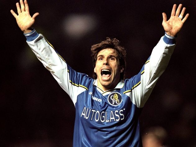 Man United v Chelsea Gianfranco Zola