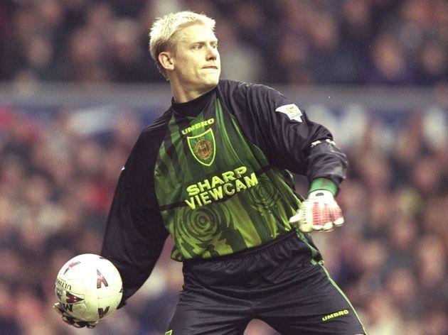 Manchester United goalkeeper Peter Schmeichel