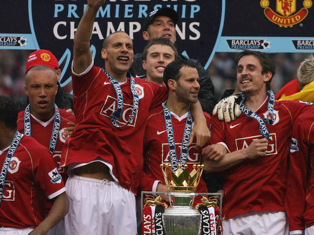 Manchester United's (L to R) Mikael Sylv...