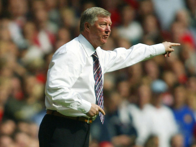 Manchester United's manager Sir Alex Fer