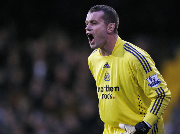 Newcastle's Irish goalkeeper Shay Given
