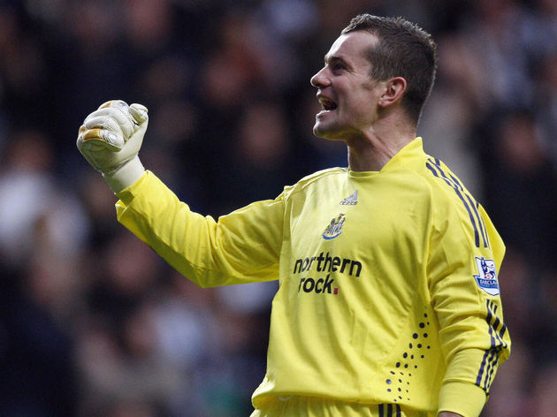 Newcastle United Irish goalkeeper Shay G
