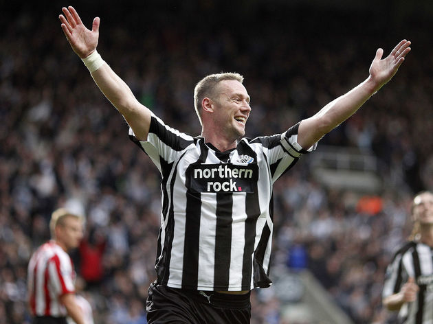 Newcastle United's Kevin Nolan celebrate