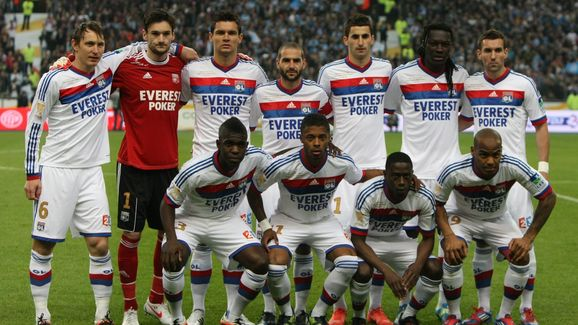 Olympique Lyonnais players (from top lef