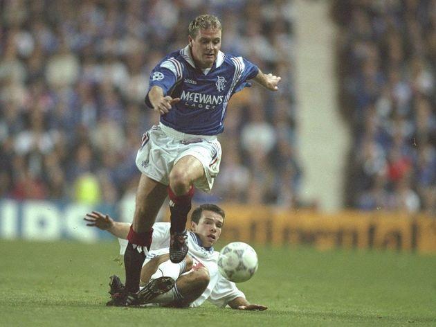 Paul Gascoigne of Rangers on the ball