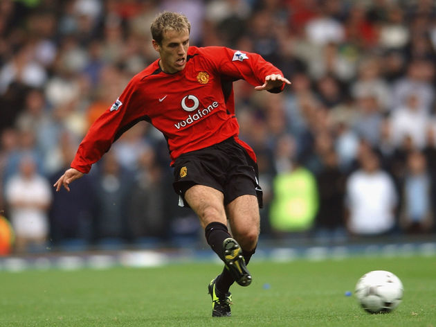 Phil Neville of Manchester United