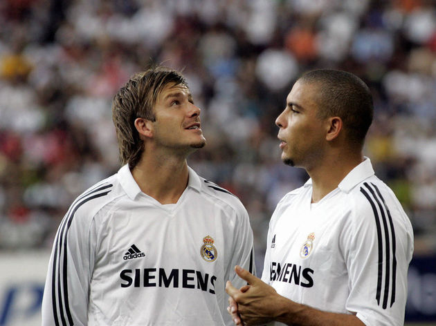 Real Madrid's midfielder David Beckham o