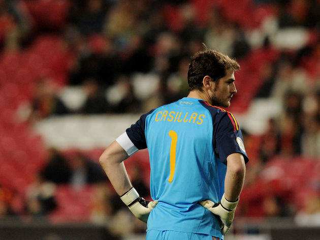 Spain's team captain and goalkeeper Iker