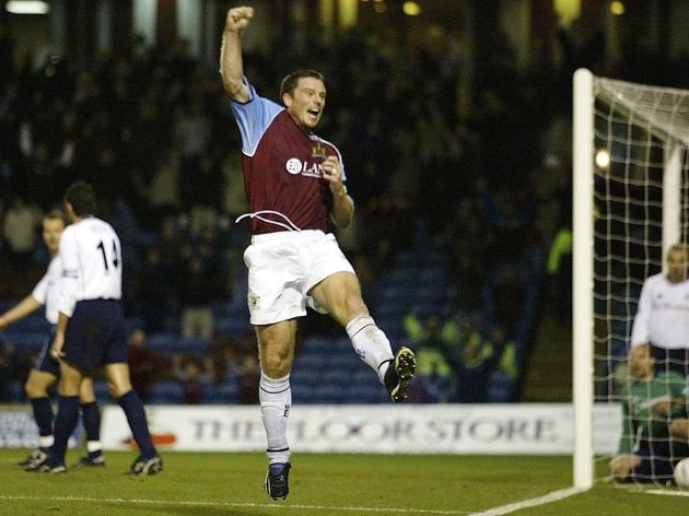 Steve Davis of Burnley celebrates scoring