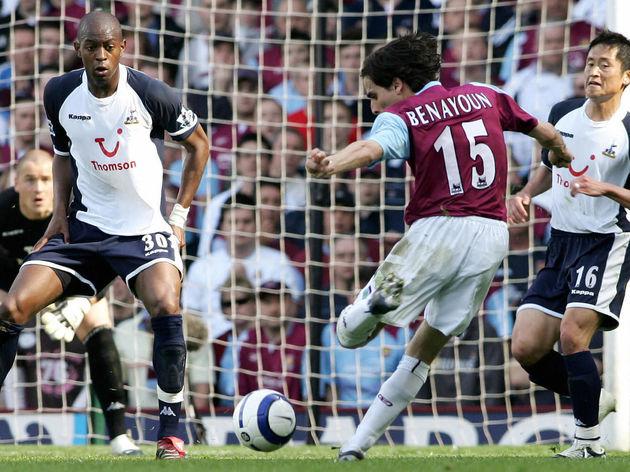 West Ham's Yossi Benayoun tries to score