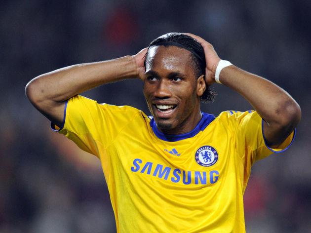 Chelsea�s Ivorian forward Didier Drogba