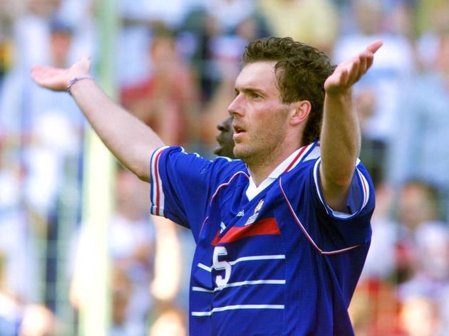 French Laurent Blanc jubilates after the