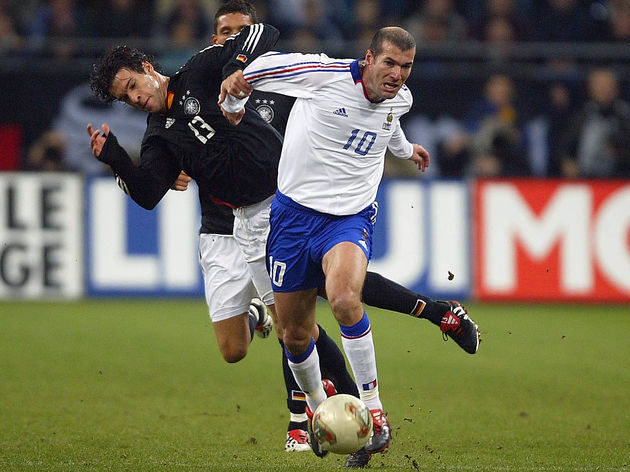 Michael Ballack and Zinedine Zidane