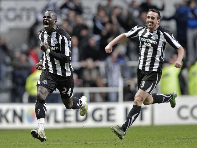 Newcastle United's Ivorian midfielder Ch