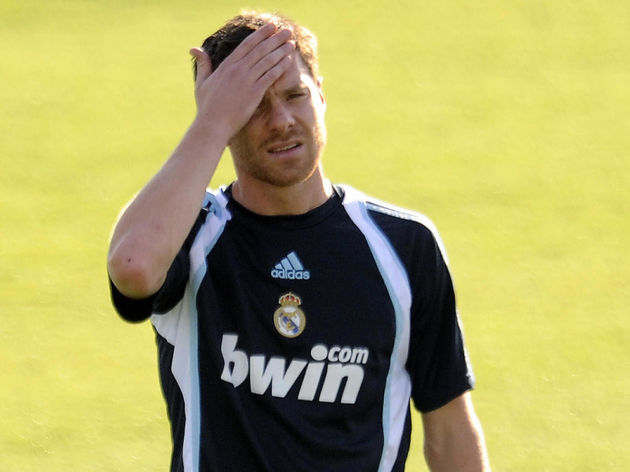 Real Madrid's new player Xabi Alonso tak
